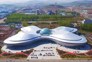 费县文化体育中心异形复杂钢结构设计