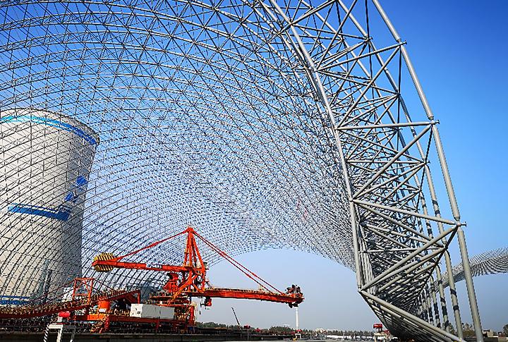 江苏某电厂干煤棚加固项目