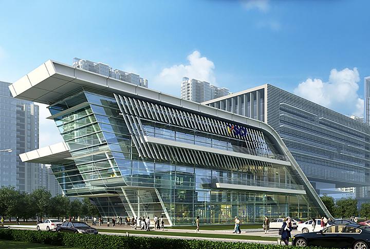 南京世茂海峡城售楼处钢结构设计