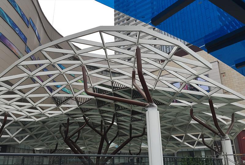 九洲新世界 · 玻璃罩棚