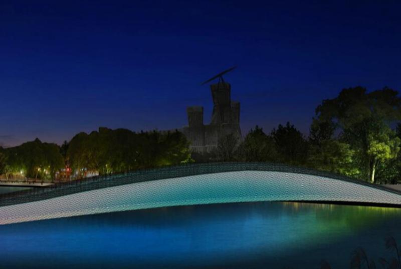 中新生态岛景观桥