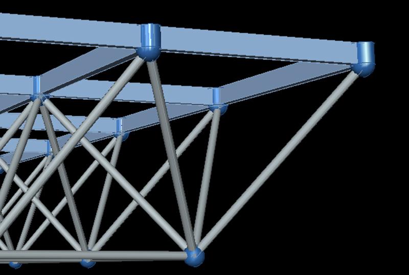 无檩网架结构